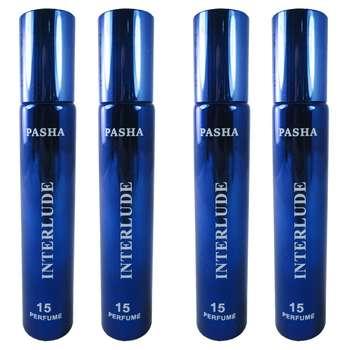 عطر جیبی مردانه پاشا مدل Interlude مجموعه 4 عددی حجم 20 میلی لیتر
