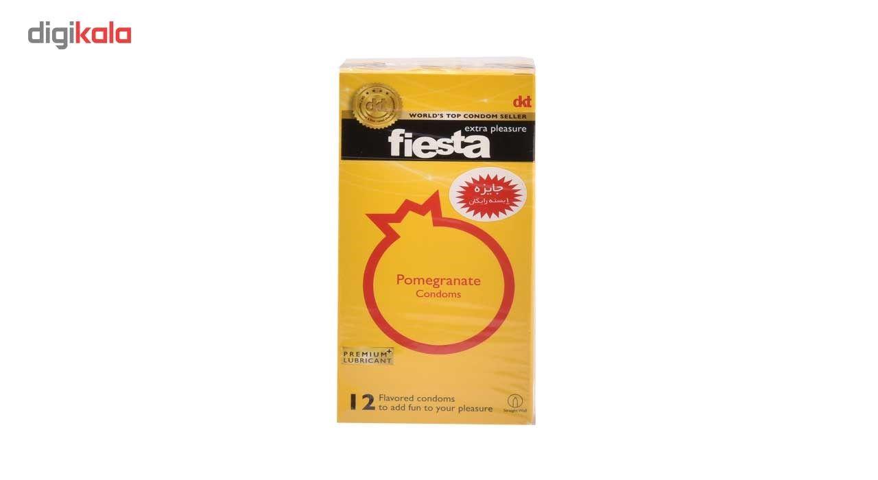 کاندوم انار تنگ کننده واژن فیستا مدل Pomegranate بسته 12 عددی main 1 2