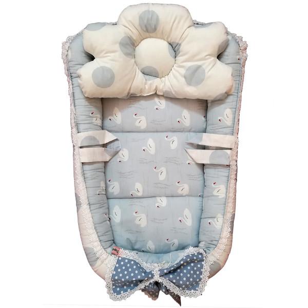 سرویس 3 تکه خواب نوزادی تاپ دوزانی مدل ایبو