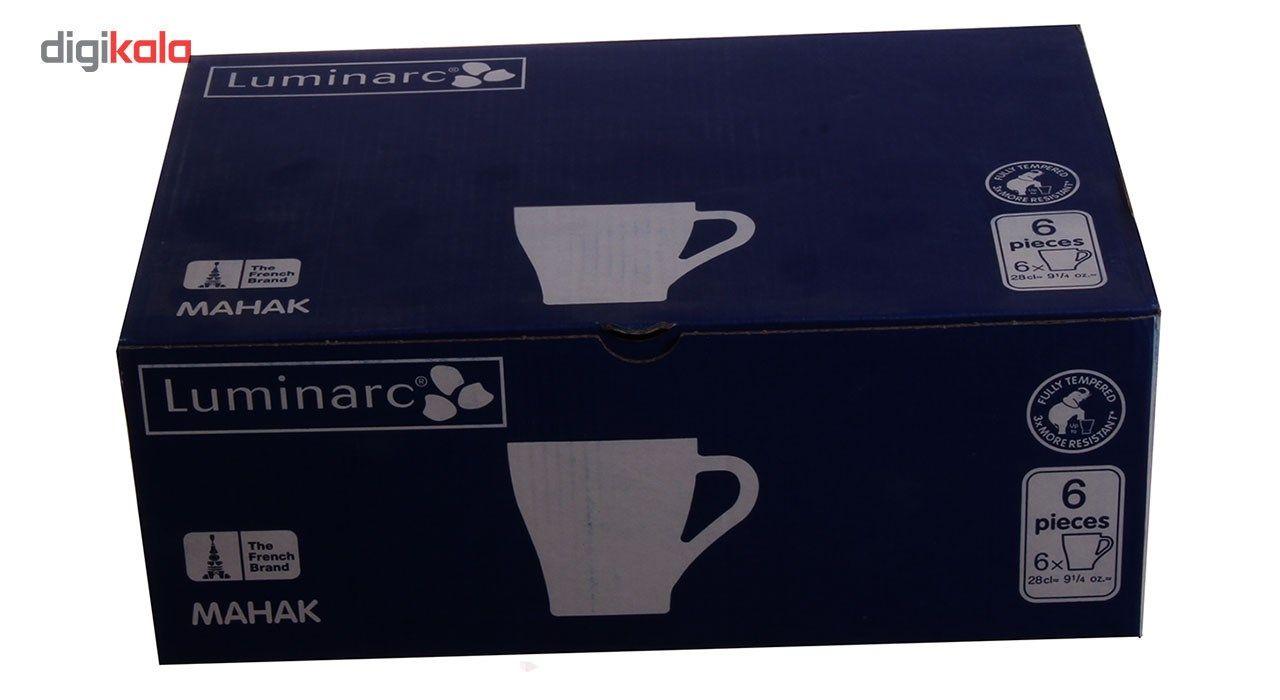 لیوان لومینارک مدل Mahak -  بسته 6 عددی main 1 3