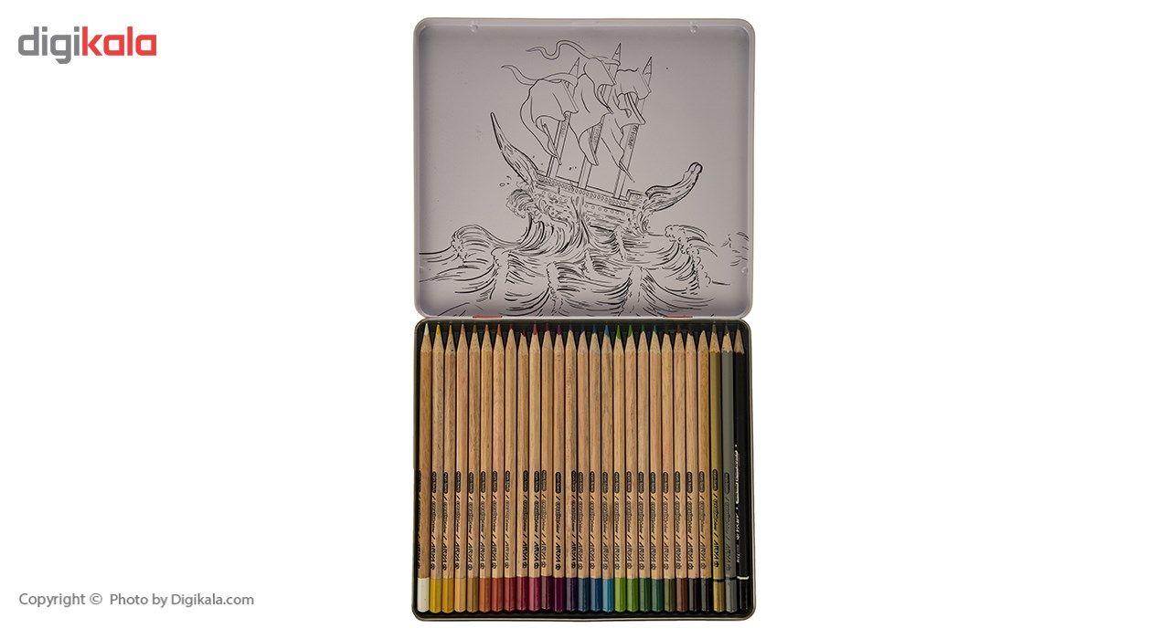 مداد رنگی 24 رنگ آریا مدل 3022 main 1 4