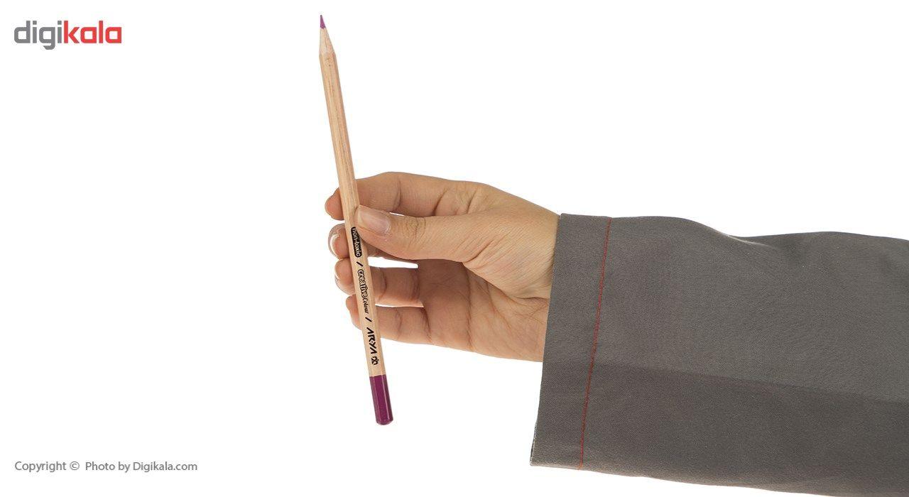 مداد رنگی 24 رنگ آریا مدل 3022 main 1 6