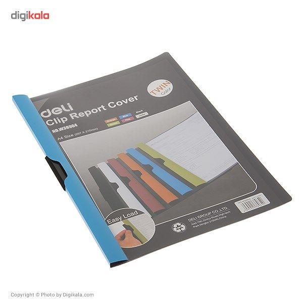 کاور کاغذ A4 دلی مدل Twin Color E38964  - با گیره متحرک main 1 2