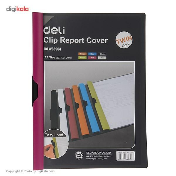 کاور کاغذ A4 دلی مدل Twin Color E38964  - با گیره متحرک main 1 3