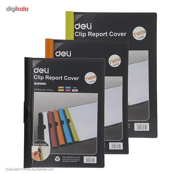 کاور کاغذ A4 دلی مدل Twin Color E38964  - با گیره متحرک main 1 4