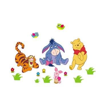 استیکر چوبی جیک جیک مدل Pooh And Friends