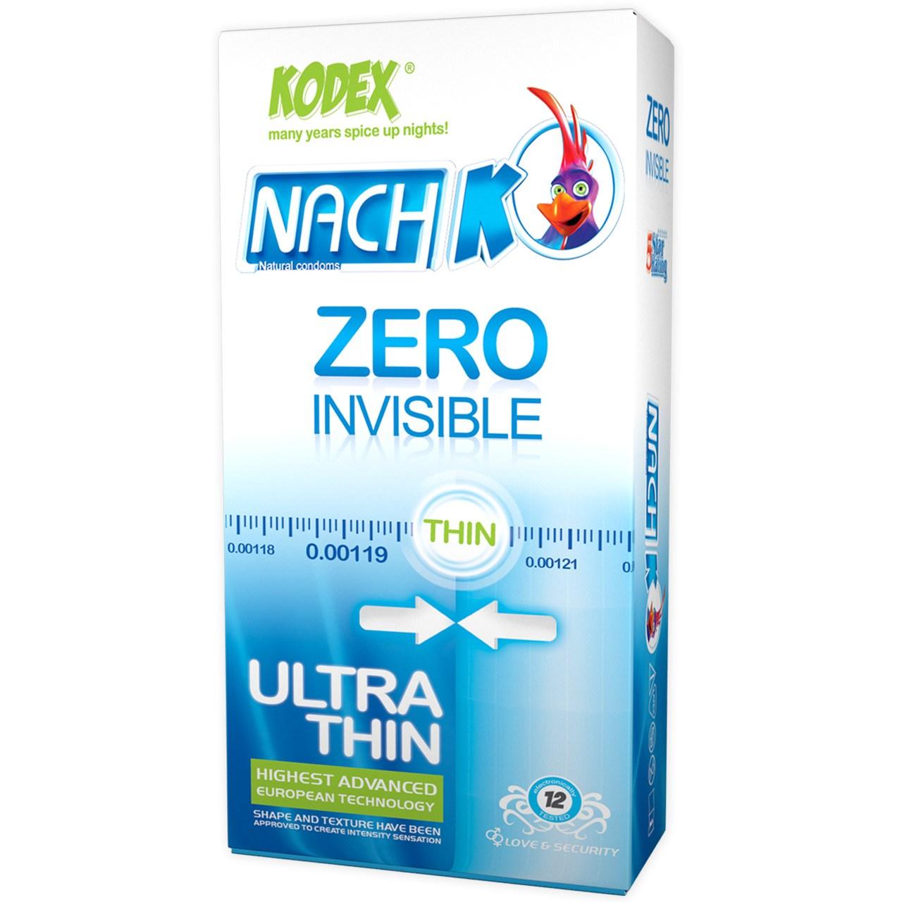 قیمت کاندوم کدکس مدل Zero Invisible بسته 12 عددی