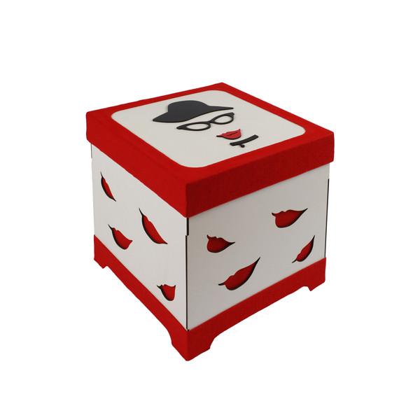 جعبه هدیه طرح خانم شیک کد 666