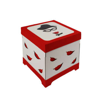 جعبه هدیه طرح خانم شیک کد 121212