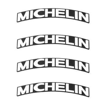 برچسب لاستیک خودرو کد Fmicheli بسته 4 عددی