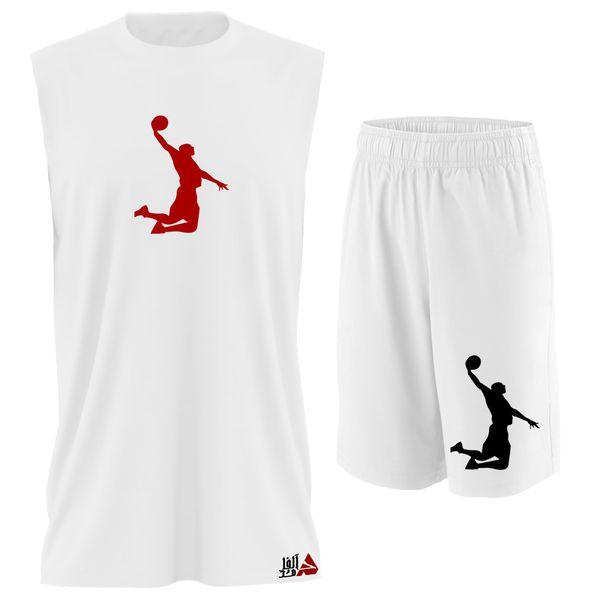ست تاپ و شلوارک مردانه مدل basketbaII کد TPSM029