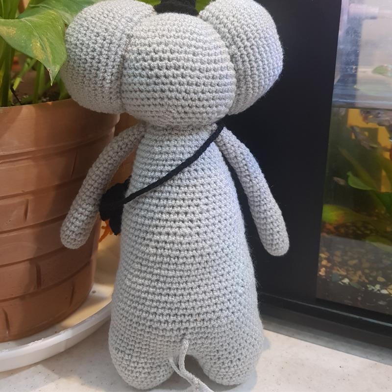 خرید                      عروسک بافتنی طرح فیل کد 12