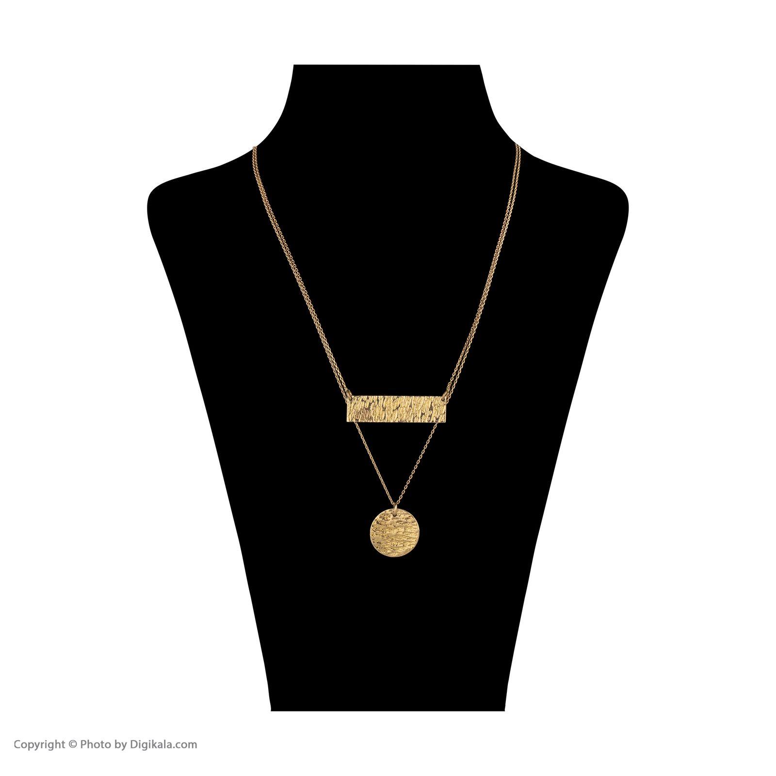گردنبند طلا 18 عیار زنانه سنجاق مدل X077574 -  - 2