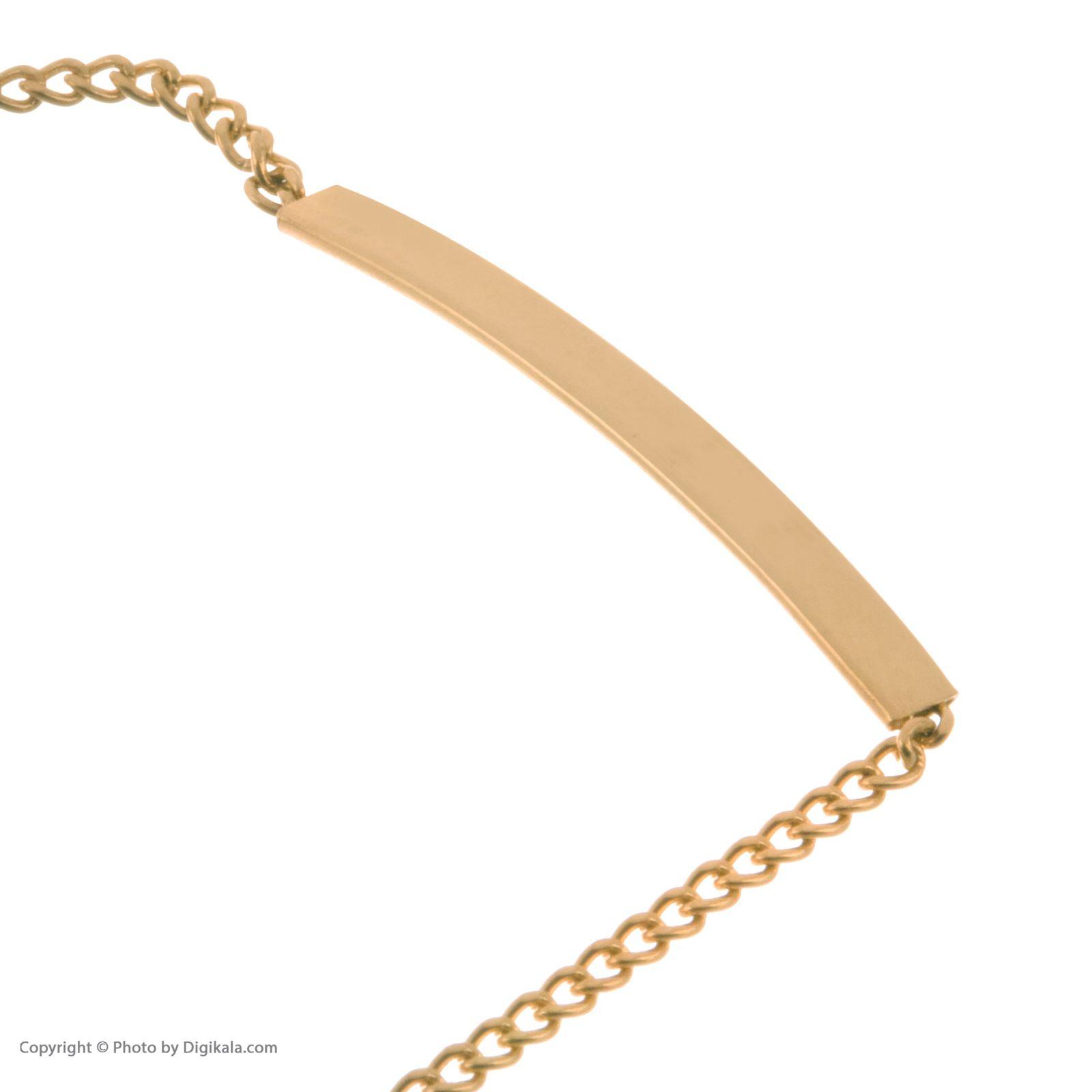 دستبند طلا 18 عیار دخترانه مایا ماهک مدل MB1050 -  - 4