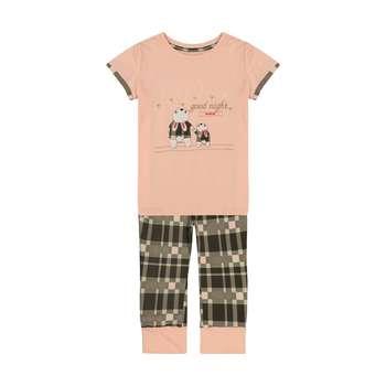 ست تی شرت و شلوار دخترانه ناربن مدل 1521303-21
