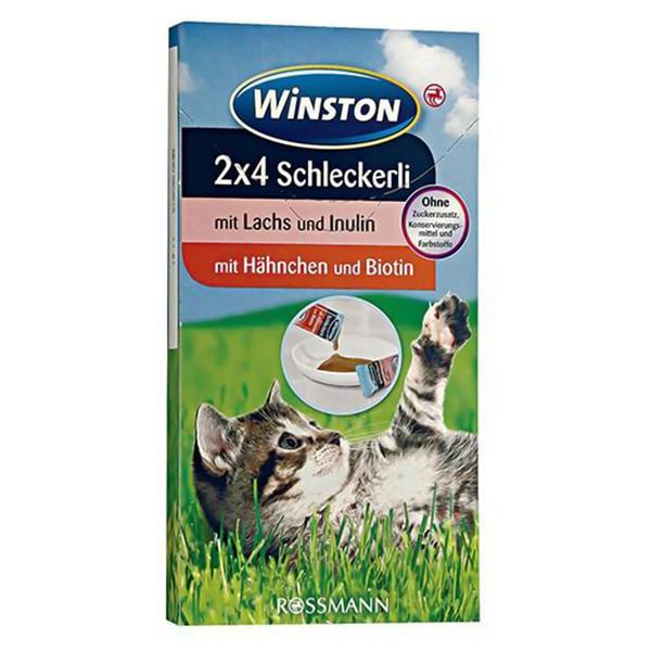 بستنی گربه وینستون مدل Lachs und Hahnchen بسته 8 عددی
