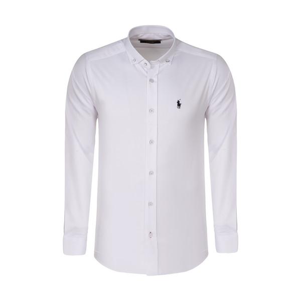 پیراهن آستین بلند مردانه پولو مدل MM08