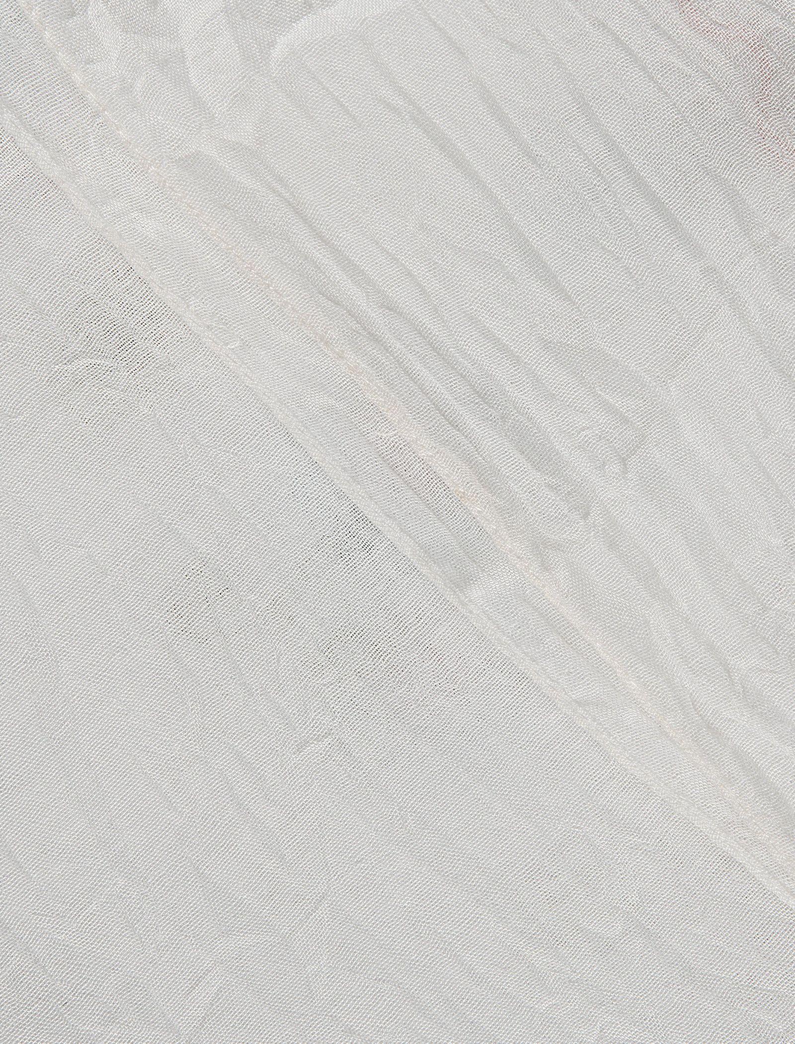 شال نخی زنانه - رزتی - سفيد - 3