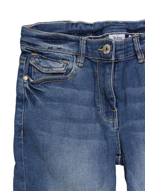 شلوار جین جذب دخترانه - آبي - 3