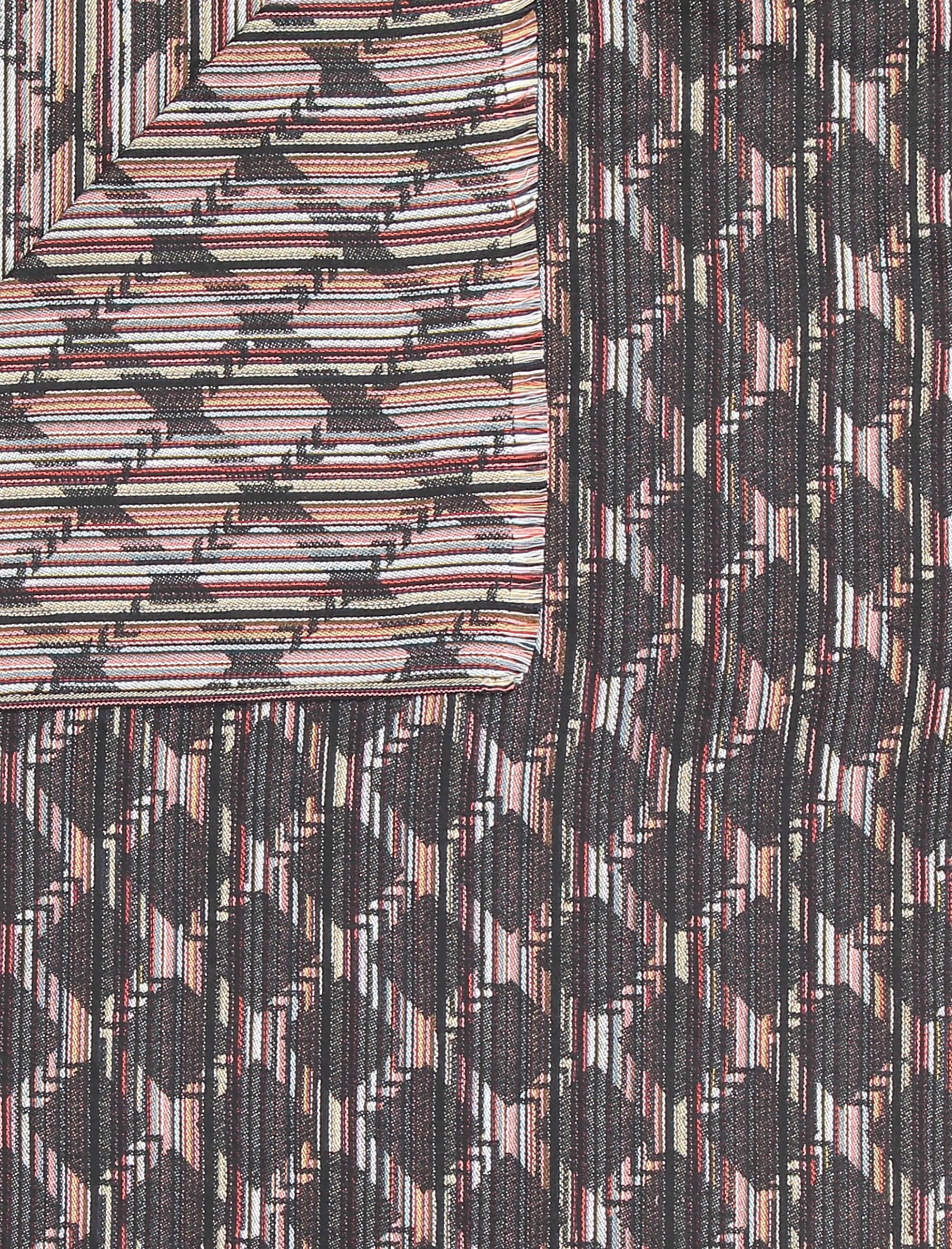 شال نخی طرح دار زنانه - دونابل تک سایز