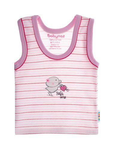 تاپ نخی طرح دار نوزادی دخترانه - بی بی ناز