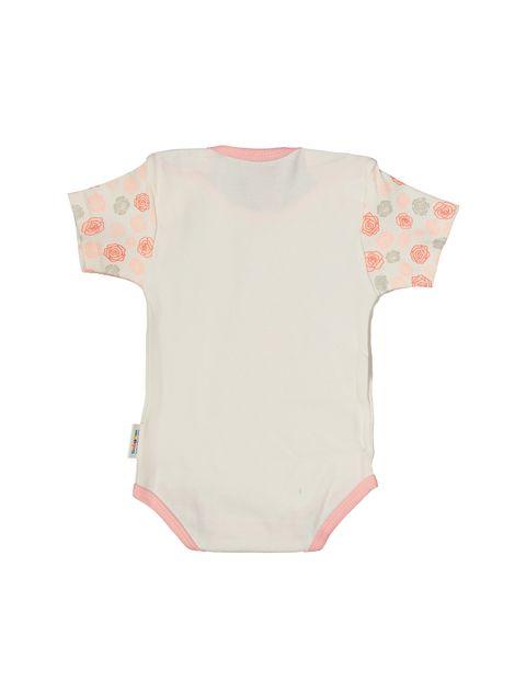 ست 3 تکه نخی نوزادی دخترانه - استخواني صورتي - 3