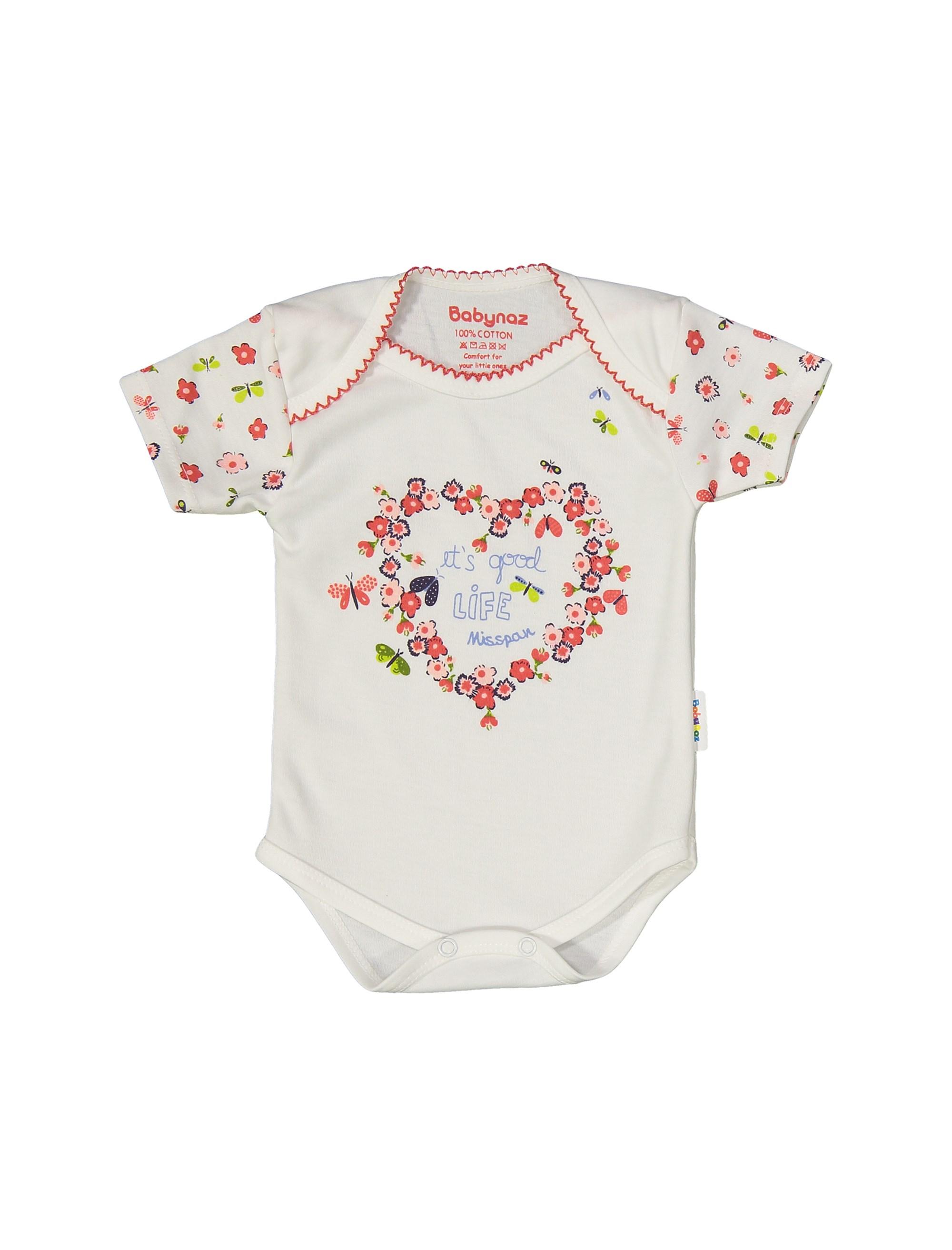 ست 3 تکه نخی نوزادی دخترانه - سفيد - 4