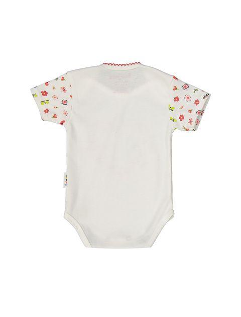 ست 3 تکه نخی نوزادی دخترانه - سفيد - 5