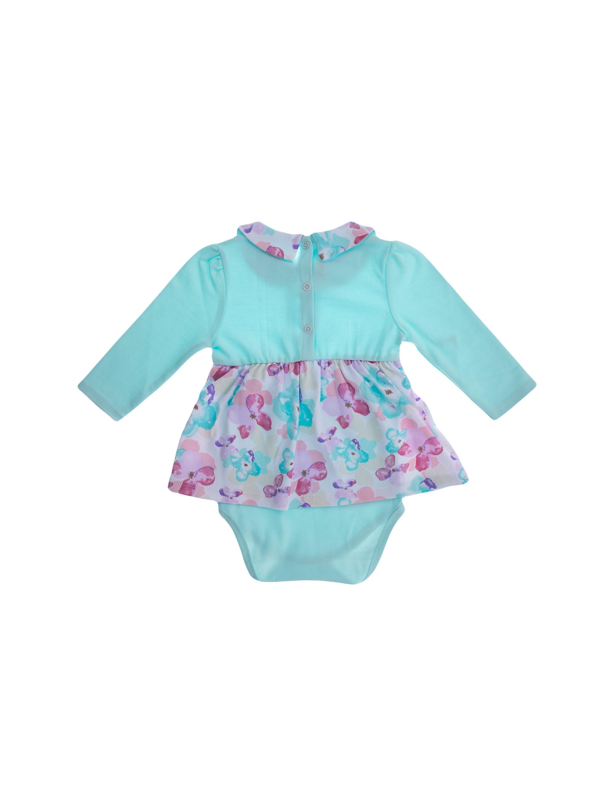پیراهن نخی آستین بلند نوزادی دخترانه - بی بی ناز - چند رنگ - 5