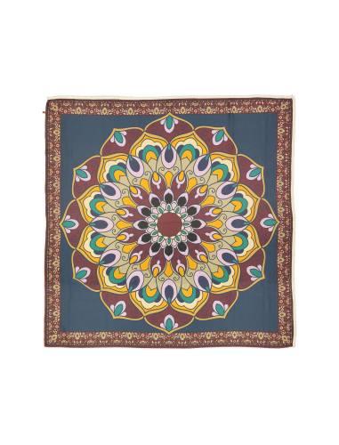 روسری نخی طرح دار زنانه - مینا فخارزاده