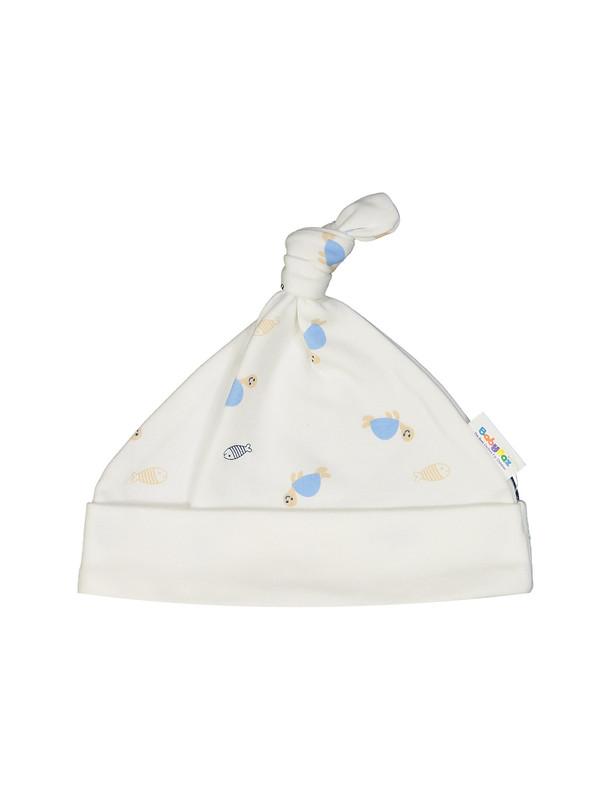 کلاه نخی طرح دار نوزادی - بی بی ناز