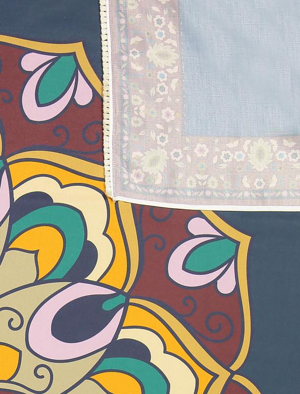 روسری نخی طرح دار زنانه - مینا فخارزاده تک سایز