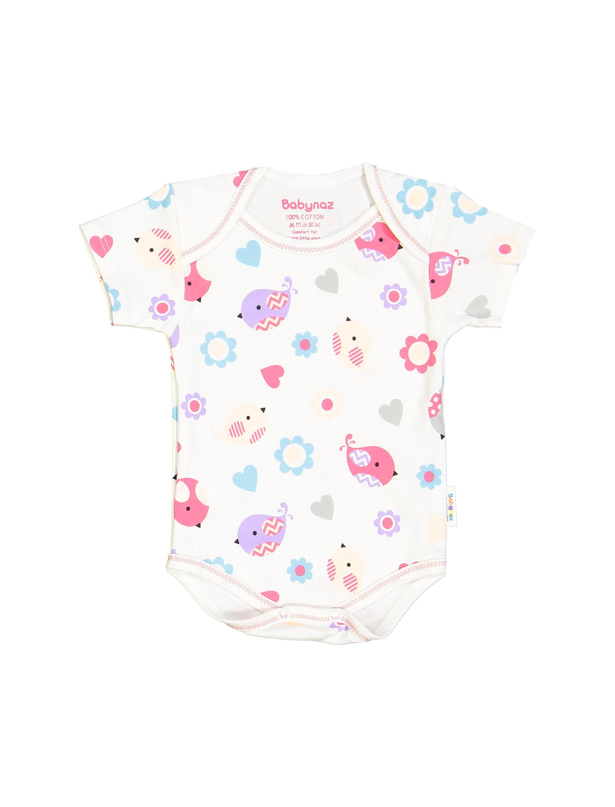 ست 3 تکه نخی نوزادی دخترانه - سفيد صورتي - 4