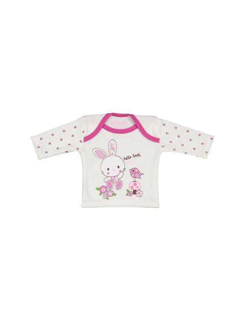 ست 5 تکه نوزادی دخترانه - سفيد و سرخابي - 4