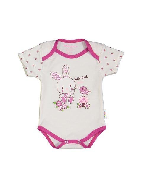 ست 3 تکه نخی نوزادی دخترانه - سفيد سرخابي - 2