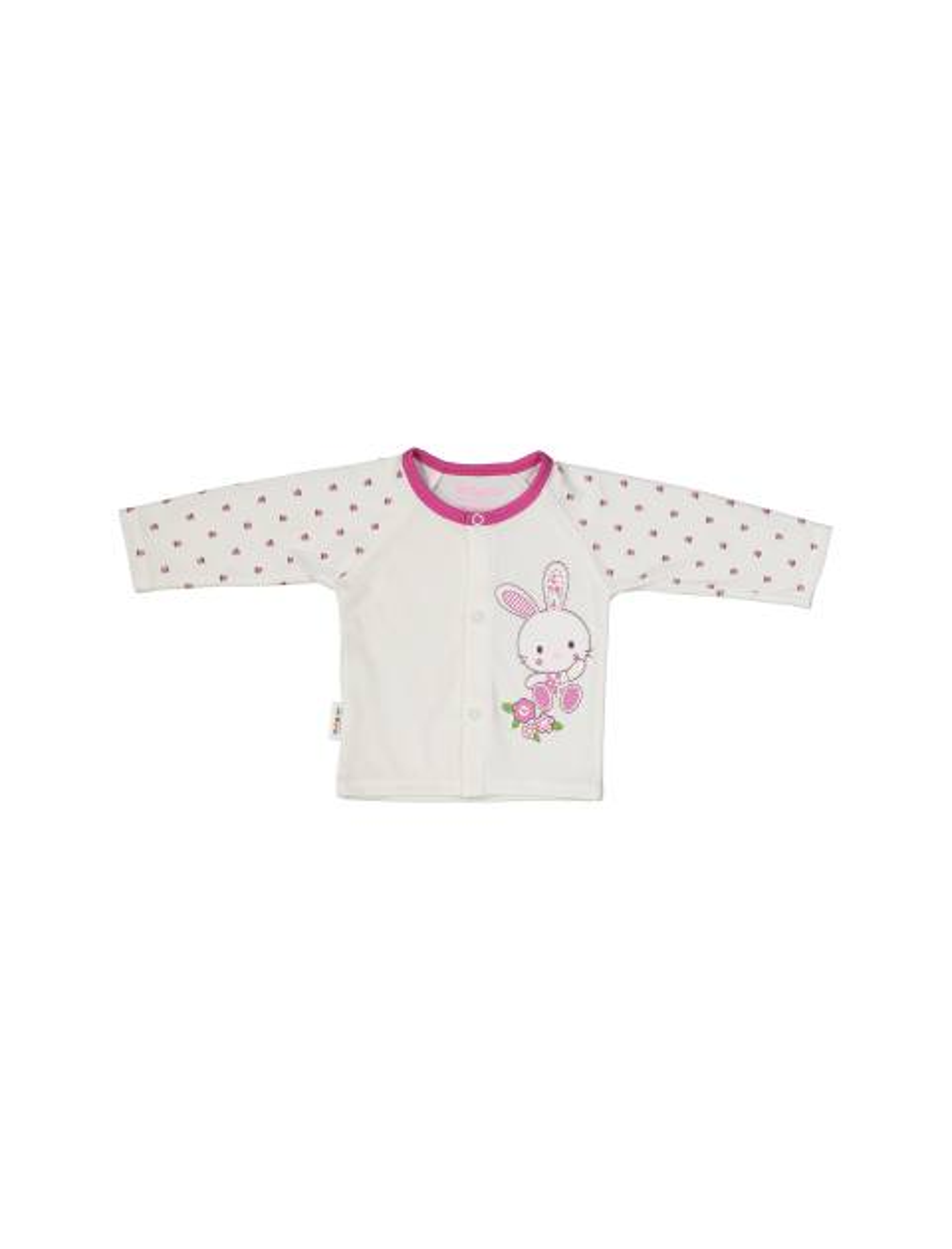 ست 3 تکه نخی نوزادی دخترانه - سفيد سرخابي - 4