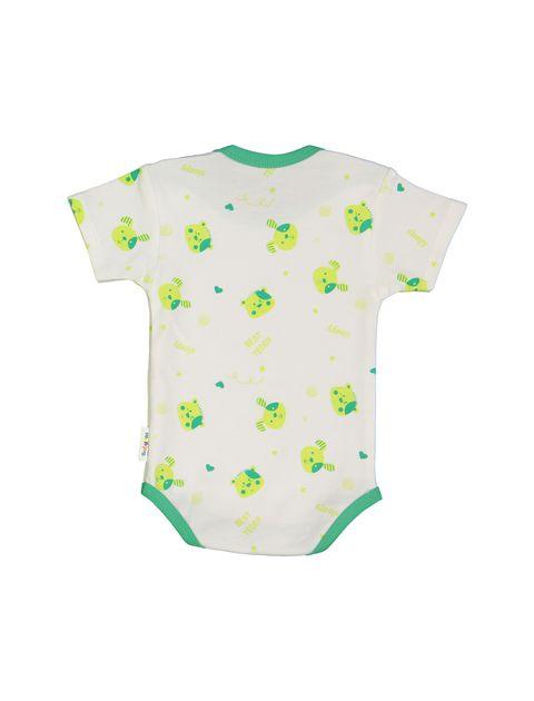 ست 3 تکه نخی نوزادی - سفيد سبز - 3