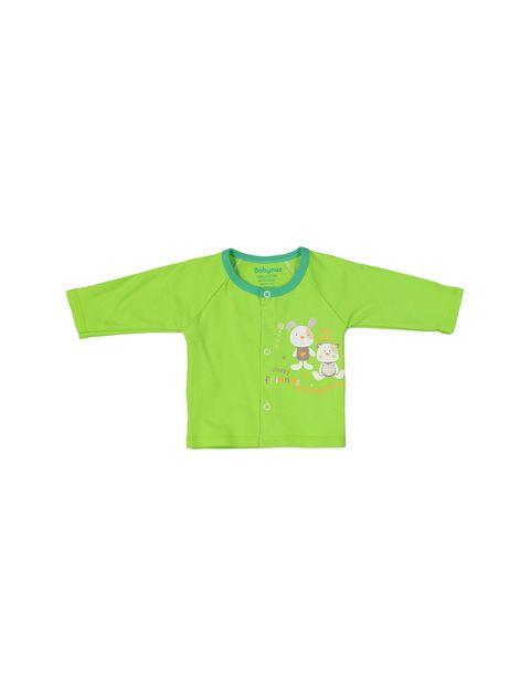 ست 3 تکه نخی نوزادی - سفيد سبز - 4