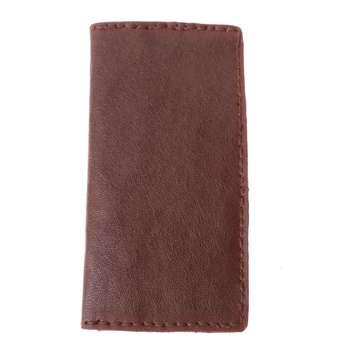 کیف پول چرم طبیعی بز دست دوز کد 1038