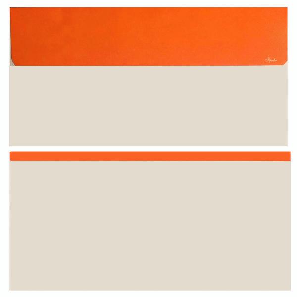 پاکت نامه (ملخی) مدل NA20 بسته 20 عددی لب برگردان نارنجی