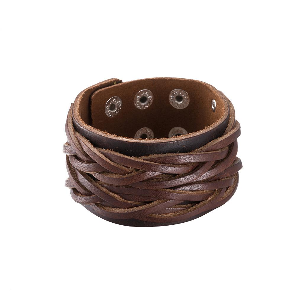 دستبند چرم مردانه کد H048