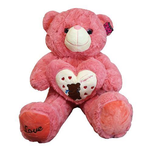 عروسک طرح خرس قلب به دست ارتفاع 60 سانتی متر