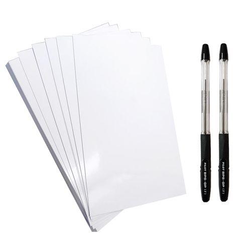 کاغذ A5 کد 305 بسته 30 عددی  به همراه  خودکار پایلوت مدل BPS-GP بسته دو عددی