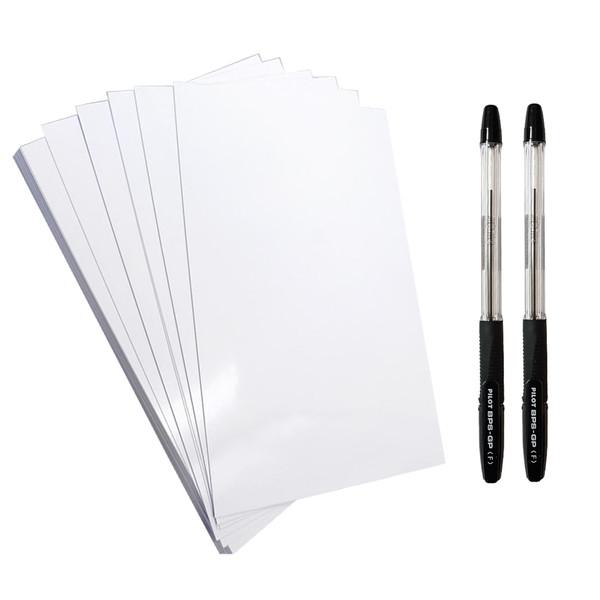 کاغذ A5 کد 205 بسته 20 عددی به همراه خودکار پایلوت مدل BPS-GP بسته دو عددی