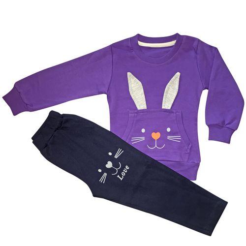 ست لباس دخترانه طرح خرگوش مدل she111