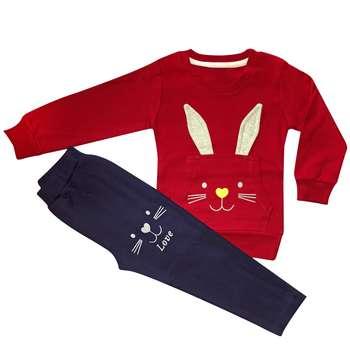 ست لباس دخترانه طرح خرگوش مدل she112 |
