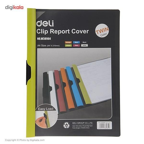 کاور کاغذ A4 دلی مدل Twin Color E38964  - با گیره متحرک main 1 5