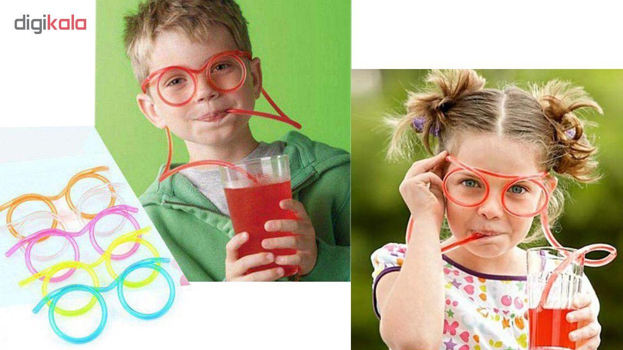 نی نوشیدنی طرح عینک