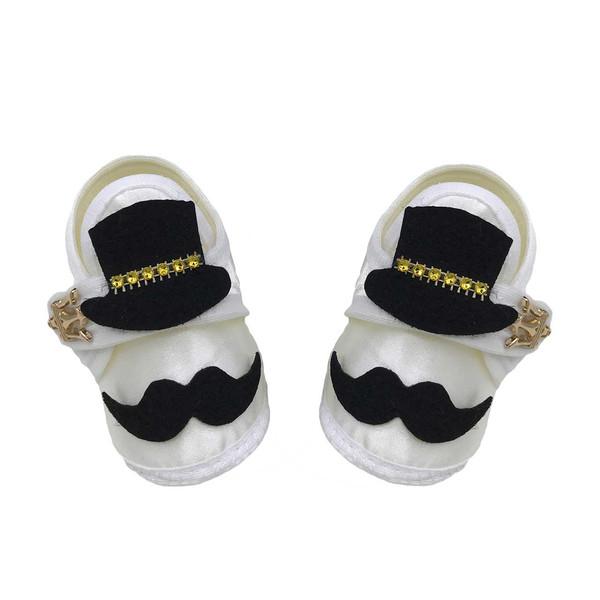 پاپوش نوزادی مدل handlebar mustache