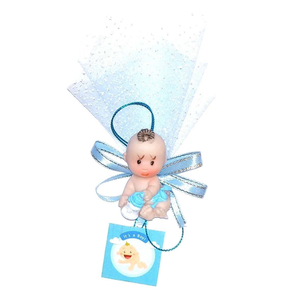 گیفت تولد و سیسمونی کودک طرح نوزاد پسر کد O-H  بسته 10 عددی